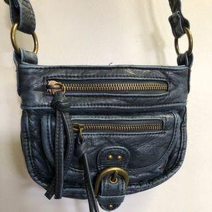 MUDD Girls Women's Small Crossbody Purse Bag Blue